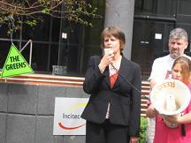 Senator Lyn Allison (leader of the Australian Democrats),